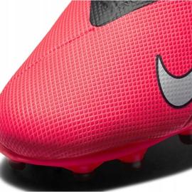 Buty piłkarskie Nike Phantom Vsn 2 Academy Df FG/MG Jr CD4059-606 wielokolorowe czerwone 4