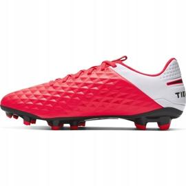 Buty piłkarskie Nike Tiempo Legend 8 Academy FG/MG M AT5292-606 czerwone czerwone 2