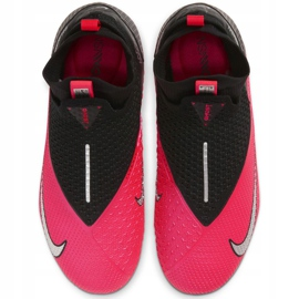 Buty piłkarskie Nike Phantom Vsn 2 Elite Df FG/MG Jr CD4062-606 czerwone czerwone 1