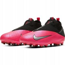 Buty piłkarskie Nike Phantom Vsn 2 Elite Df FG/MG Jr CD4062-606 czerwone czerwone 3