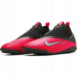 Buty piłkarskie Nike React Phantom Vsn 2 Pro Df Tf M CD4174-606 czerwone czerwone 3