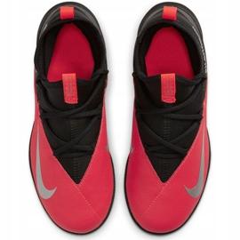 Buty piłkarskie Nike Phantom Vsn 2 Club Df Tf Jr CD4079-606 czerwone czerwone 1