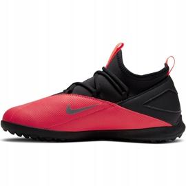 Buty piłkarskie Nike Phantom Vsn 2 Club Df Tf Jr CD4079-606 czerwone czerwone 2
