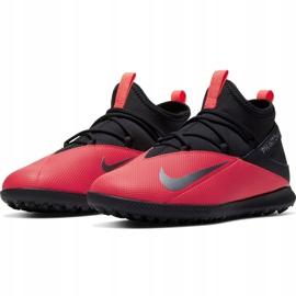 Buty piłkarskie Nike Phantom Vsn 2 Club Df Tf Jr CD4079-606 czerwone czerwone 3