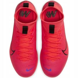 Buty halowe Nike Mercurial Superfly 7 Academy Ic Jr AT8135-606 czerwone czerwone 1