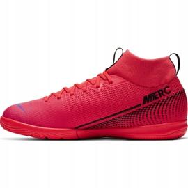 Buty halowe Nike Mercurial Superfly 7 Academy Ic Jr AT8135-606 czerwone czerwone 4