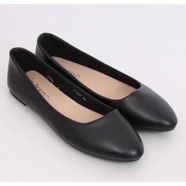 Balerinki gładkie licowe czarne Z1007 Black 2