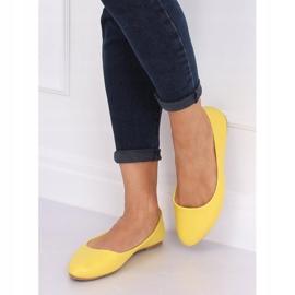 Balerinki gładkie licowe żółte Z1007 Yellow 3