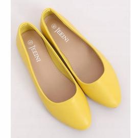 Balerinki gładkie licowe żółte Z1007 Yellow 1