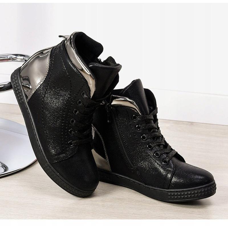 ButyModne Białe Sneakersy Na Koturnie Capucine Material rozmiar 40