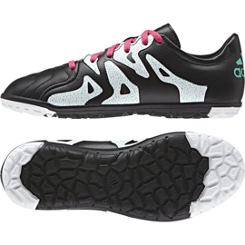 Buty piłkarskie adidas X 15.3 Tf Leather Jr AF4788 czarne czarne 1