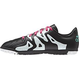 Buty piłkarskie adidas X 15.3 Tf Leather Jr AF4788 czarne czarne 2
