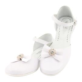 Miko czółenka dziecięce balerinki komunijne białe 5