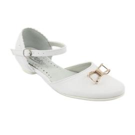 Czółenka balerinki komunijne Miko 707 białe 1