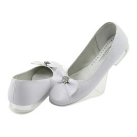 Czółenka balerinki komunijne białe Miko 800 4