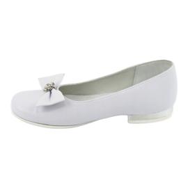 Czółenka balerinki komunijne białe Miko 800 2