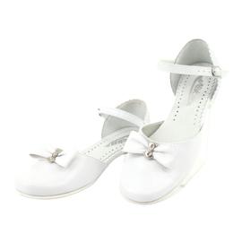 Czółenka balerinki komunijne Miko 671 białe 3