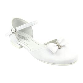 Czółenka balerinki komunijne Miko 671 białe 1