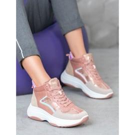 Ideal Shoes Wysokie Buty Na Platformie 1