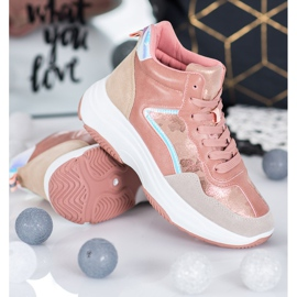 Ideal Shoes Wysokie Buty Na Platformie 3