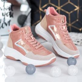 Ideal Shoes Wysokie Buty Na Platformie 4