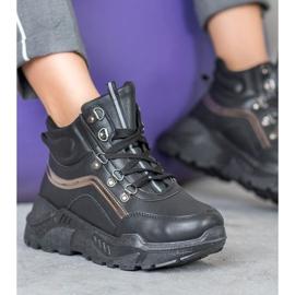 Queentina Ocieplane Sneakersy czarne 4