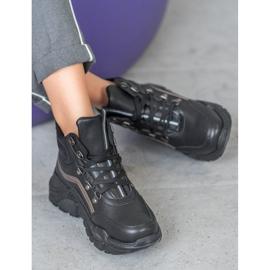 Queentina Ocieplane Sneakersy czarne 1