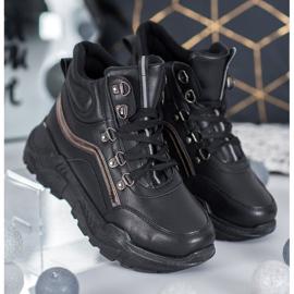 Queentina Ocieplane Sneakersy czarne 3