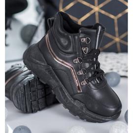 Queentina Ocieplane Sneakersy czarne 2