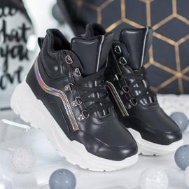 Ideal Shoes Botki Fashion czarne 1