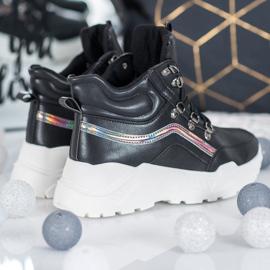 Ideal Shoes Botki Fashion czarne 2