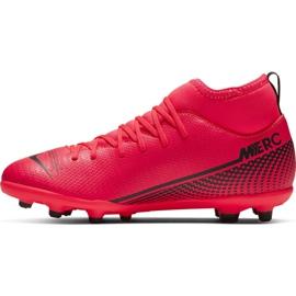 Buty piłkarskie Nike Mercurial Superfly 7 Club FG/MG Jr AT8150-606 czerwone czerwone 2