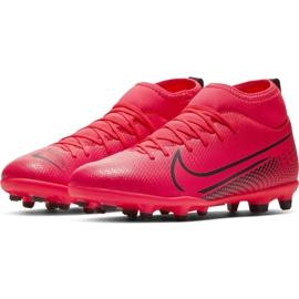 Buty piłkarskie Nike Mercurial Superfly 7 Club FG/MG Jr AT8150-606 czerwone czerwone 3