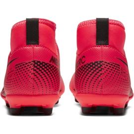 Buty piłkarskie Nike Mercurial Superfly 7 Club FG/MG Jr AT8150-606 czerwone czerwone 4