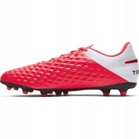 Buty piłkarskie Nike Tiempo Legend 8 Club FG/MG M AT6107-606 czerwone czerwone 2