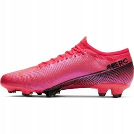 Buty piłkarskie Nike Mercurial Vapor 13 Pro Fg M AT7901-606 czerwone wielokolorowe 2