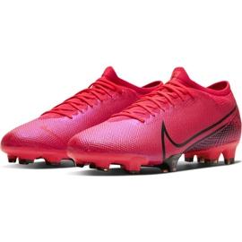 Buty piłkarskie Nike Mercurial Vapor 13 Pro Fg M AT7901-606 czerwone wielokolorowe 3