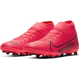 Buty piłkarskie Nike Mercurial Superfly 7 Club FG/MG M AT7949-606 czerwone czerwone 3