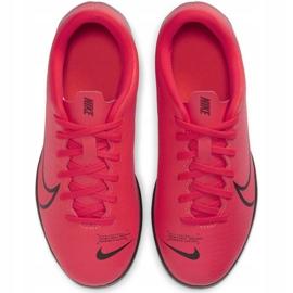 Buty piłkarskie Nike Mercurial Vapor 13 Club Tf Jr AT8177-606 czerwone czerwone 2
