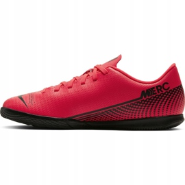 Buty halowe Nike Mercurial Vapor 13 Club Ic Jr AT8169-606 czerwone czerwony 4