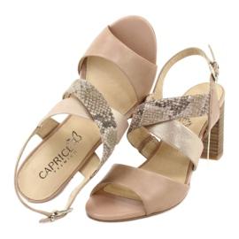Caprice sandały damskie 28312 beżowy złoty 5