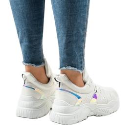 Białe sneakersy sportowe K-505 3