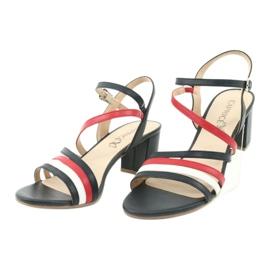 Caprice sandały buty damskie 28304 białe czerwone granatowe 3