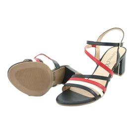 Caprice sandały buty damskie 28304 białe czerwone granatowe 5