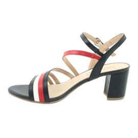 Caprice sandały buty damskie 28304 białe czerwone granatowe 2