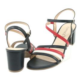 Caprice sandały buty damskie 28304 białe czerwone granatowe 4