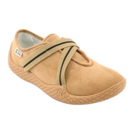 Befado obuwie damskie pu--young 434D017 beżowy 2