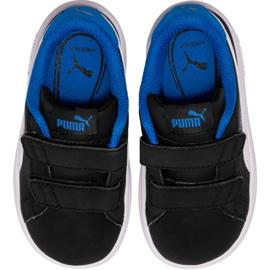 Buty Puma Smash v2 Buck V Ps Jr 365183 04 czarne 1