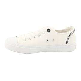 Big Star Trampki wiązane białe FF274206 2