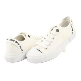 Big Star Trampki wiązane białe FF274206 4